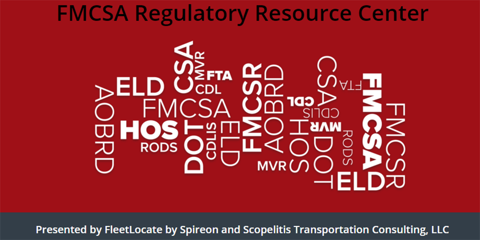 FMCSA Regulatory Resource Center Graphic