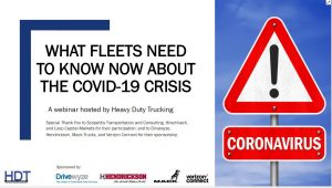 Osiecki Participates in HDT Webinar to Help Fleets During COVID-19 Crisis